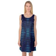 Vibrant Pattern Colorful Seamless Pattern Sleeveless Satin Nightdress