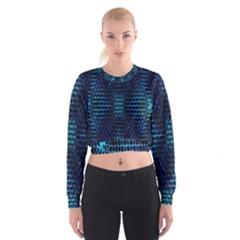 Vibrant Pattern Colorful Seamless Pattern Women s Cropped Sweatshirt