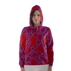 Voronoi Diagram Hooded Wind Breaker (women)