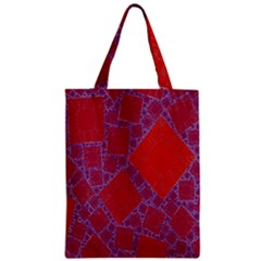 Voronoi Diagram Zipper Classic Tote Bag