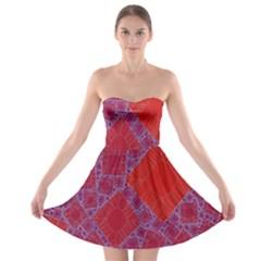 Voronoi Diagram Strapless Bra Top Dress