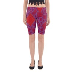Voronoi Diagram Yoga Cropped Leggings