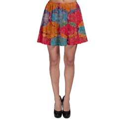 Abstract Art Pattern Skater Skirt