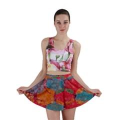 Abstract Art Pattern Mini Skirt
