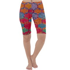 Abstract Art Pattern Cropped Leggings