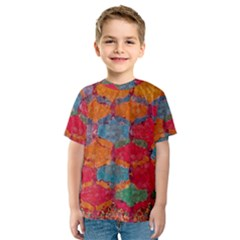 Abstract Art Pattern Kids  Sport Mesh Tee