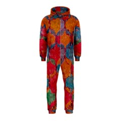 Abstract Art Pattern Hooded Jumpsuit (kids)
