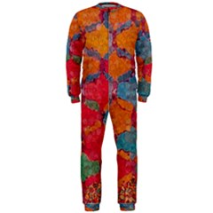 Abstract Art Pattern Onepiece Jumpsuit (men)