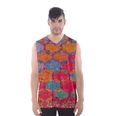 Abstract Art Pattern Men s Basketball Tank Top