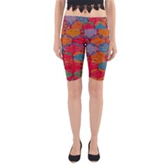 Abstract Art Pattern Yoga Cropped Leggings