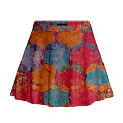 Abstract Art Pattern Mini Flare Skirt