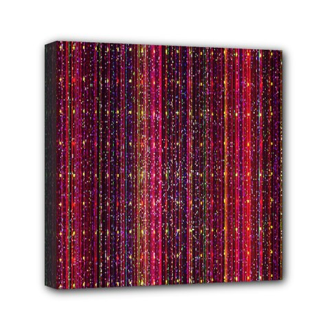 Colorful And Glowing Pixelated Pixel Pattern Mini Canvas 6  X 6