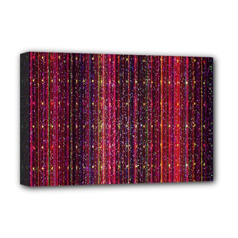Colorful And Glowing Pixelated Pixel Pattern Deluxe Canvas 18  x 12