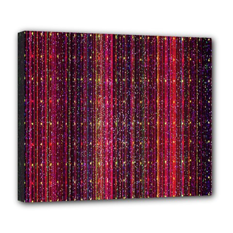 Colorful And Glowing Pixelated Pixel Pattern Deluxe Canvas 24  x 20