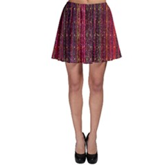 Colorful And Glowing Pixelated Pixel Pattern Skater Skirt