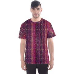 Colorful And Glowing Pixelated Pixel Pattern Men s Sport Mesh Tee