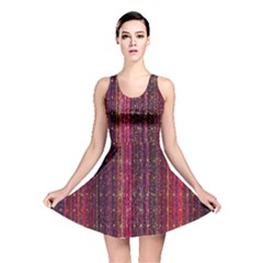 Colorful And Glowing Pixelated Pixel Pattern Reversible Skater Dress