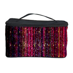 Colorful And Glowing Pixelated Pixel Pattern Cosmetic Storage Case