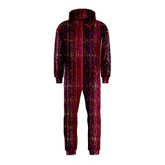 Colorful And Glowing Pixelated Pixel Pattern Hooded Jumpsuit (Kids)