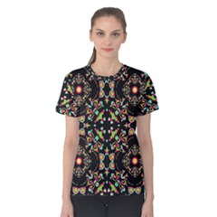 Abstract Elegant Background Pattern Women s Cotton Tee