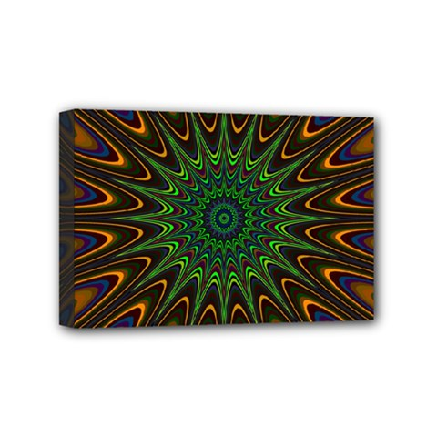 Vibrant Colorful Abstract Pattern Seamless Mini Canvas 6  X 4