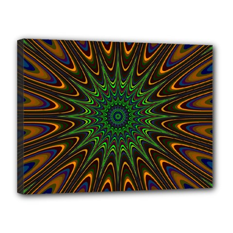 Vibrant Colorful Abstract Pattern Seamless Canvas 16  X 12