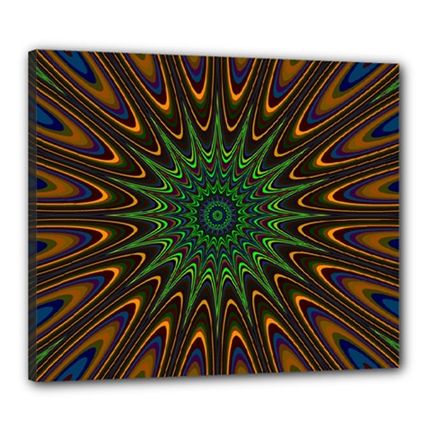 Vibrant Colorful Abstract Pattern Seamless Canvas 24  X 20