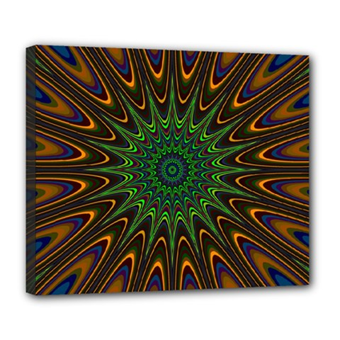 Vibrant Colorful Abstract Pattern Seamless Deluxe Canvas 24  x 20