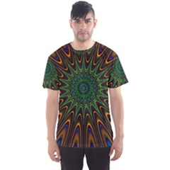 Vibrant Colorful Abstract Pattern Seamless Men s Sport Mesh Tee