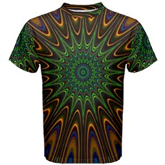 Vibrant Colorful Abstract Pattern Seamless Men s Cotton Tee