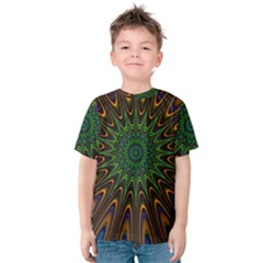 Vibrant Colorful Abstract Pattern Seamless Kids  Cotton Tee