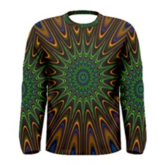 Vibrant Colorful Abstract Pattern Seamless Men s Long Sleeve Tee