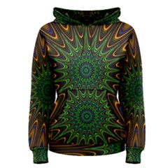 Vibrant Colorful Abstract Pattern Seamless Women s Pullover Hoodie