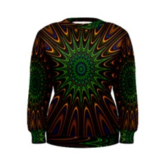 Vibrant Colorful Abstract Pattern Seamless Women s Sweatshirt