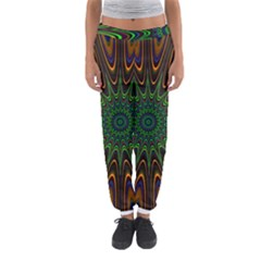 Vibrant Colorful Abstract Pattern Seamless Women s Jogger Sweatpants