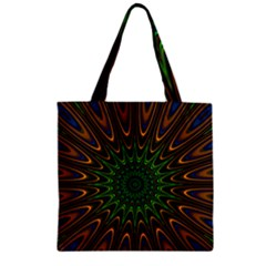 Vibrant Colorful Abstract Pattern Seamless Zipper Grocery Tote Bag