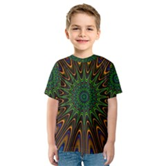 Vibrant Colorful Abstract Pattern Seamless Kids  Sport Mesh Tee