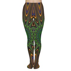 Vibrant Colorful Abstract Pattern Seamless Women s Tights