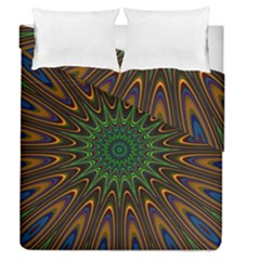 Vibrant Colorful Abstract Pattern Seamless Duvet Cover Double Side (queen Size)