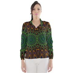 Vibrant Colorful Abstract Pattern Seamless Wind Breaker (women)