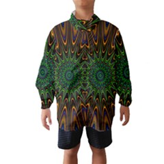 Vibrant Colorful Abstract Pattern Seamless Wind Breaker (kids)