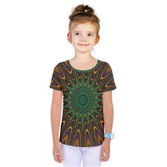 Vibrant Colorful Abstract Pattern Seamless Kids  One Piece Tee