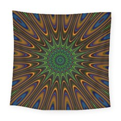 Vibrant Colorful Abstract Pattern Seamless Square Tapestry (large)