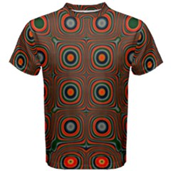 Vibrant Pattern Seamless Colorful Men s Cotton Tee