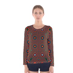 Vibrant Pattern Seamless Colorful Women s Long Sleeve Tee