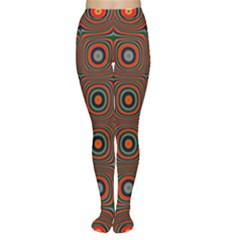 Vibrant Pattern Seamless Colorful Women s Tights