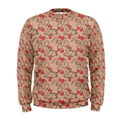 Vintage flower pattern  Men s Sweatshirt