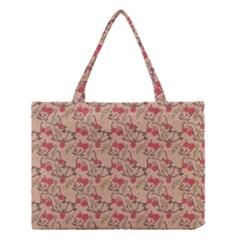 Vintage Flower Pattern  Medium Tote Bag