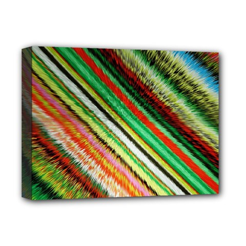 Colorful Stripe Extrude Background Deluxe Canvas 16  x 12