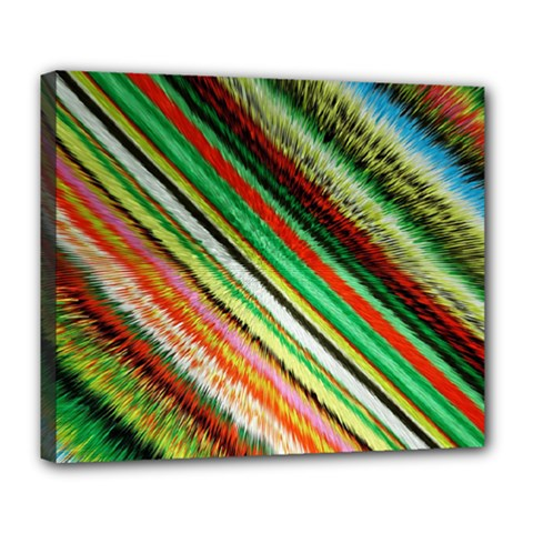 Colorful Stripe Extrude Background Deluxe Canvas 24  x 20